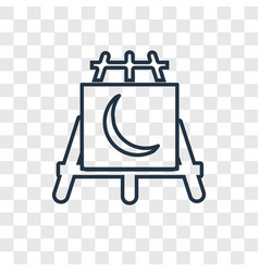 Easel concept linear icon isolated on transparent vector