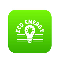 eco energy icon green vector image