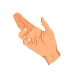 Female hand sign human finger gesture sign sign vector