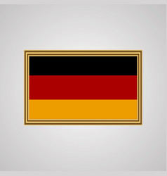 Flag of germany in a golden frame vector