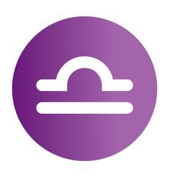 Flat color libra sign icon vector