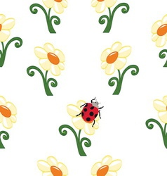 Flower background 2 resize vector image