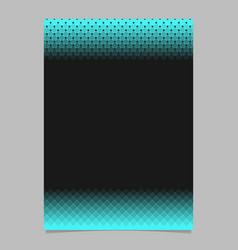 geometric halftone pattern brochure template vector image