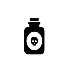 glass poison bottle flat icon vector image