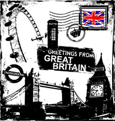 Greetings from great britain vector