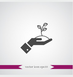 Growing start up icon simple vector