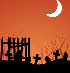 Halloween Graveyeard vector image