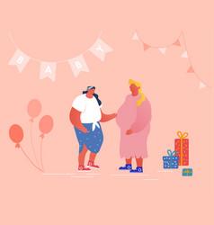 Happy people celebration soon child birthday baby vector