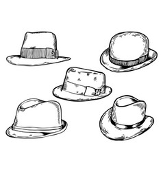 Hats engraving vector