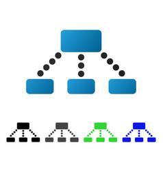 Hierarchy flat gradient icon vector