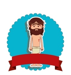 Jesuschrist character isolated icon vector