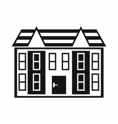 Large two-storey house icon simple style vector