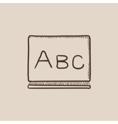 Letters abc on blackboard sketch icon vector image vector image