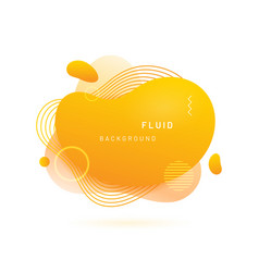liquid blob with lines and circle vector image