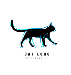 logotype cat vector image