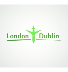 London - Dublin vector