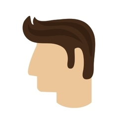 man head profile icon vector image
