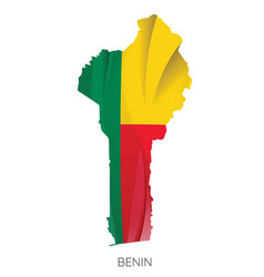 map benin vector image