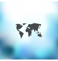 map icon on blurred background vector image