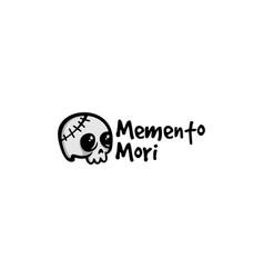 memento mori skull logo vector image