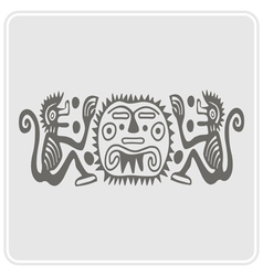 monochrome icon with American Indians art vector image