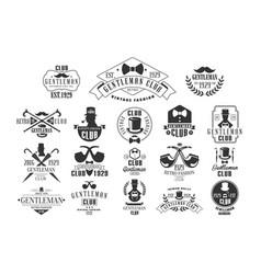 Monochrome set stylish emblems vector