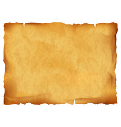 Old parchment isolated on white background vector