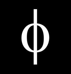 phi greek sign vector image