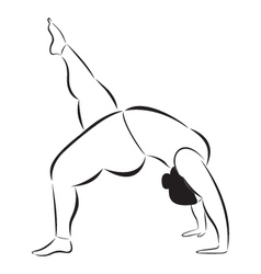 Plus size sporty woman doing yoga vector image