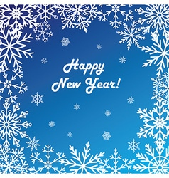 Postcard Happy New Year vector image