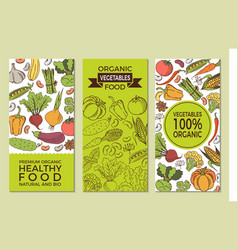 Poster with vegetables vector