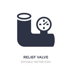 Relief valve icon on white background simple vector