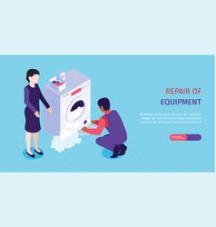 Repair service banner vector