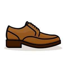 shoe on white background vector image