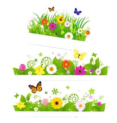Spring flower bouquet vector
