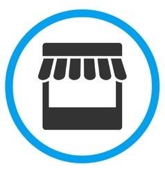 Store Facade Rounded Icon vector