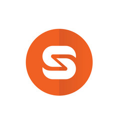 symbol letter s combined with circle flat design vector image