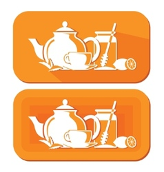 Tea objects vector
