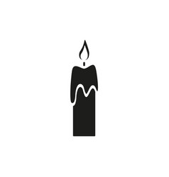 the candle of back icon a fire vector image
