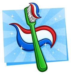 toothbrush cartoon vector image