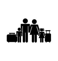 traditional family design vector image