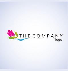 Tulip logo ideas design vector