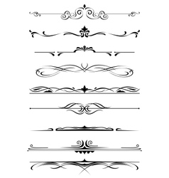 Vintage monograms and borders vector image vector image
