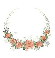 Vintage wedding invitation card elegant floral vector