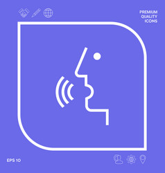 voice control person talking - icon graphic vector image