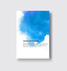 watercolor blue sea color design banner vector image