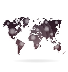 World map on a white vector image