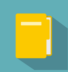 Yellow file folder icon flat style vector