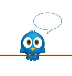 Blue bird sitting on rope vector image