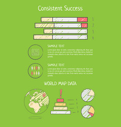 consistent success analysis vector image vector image